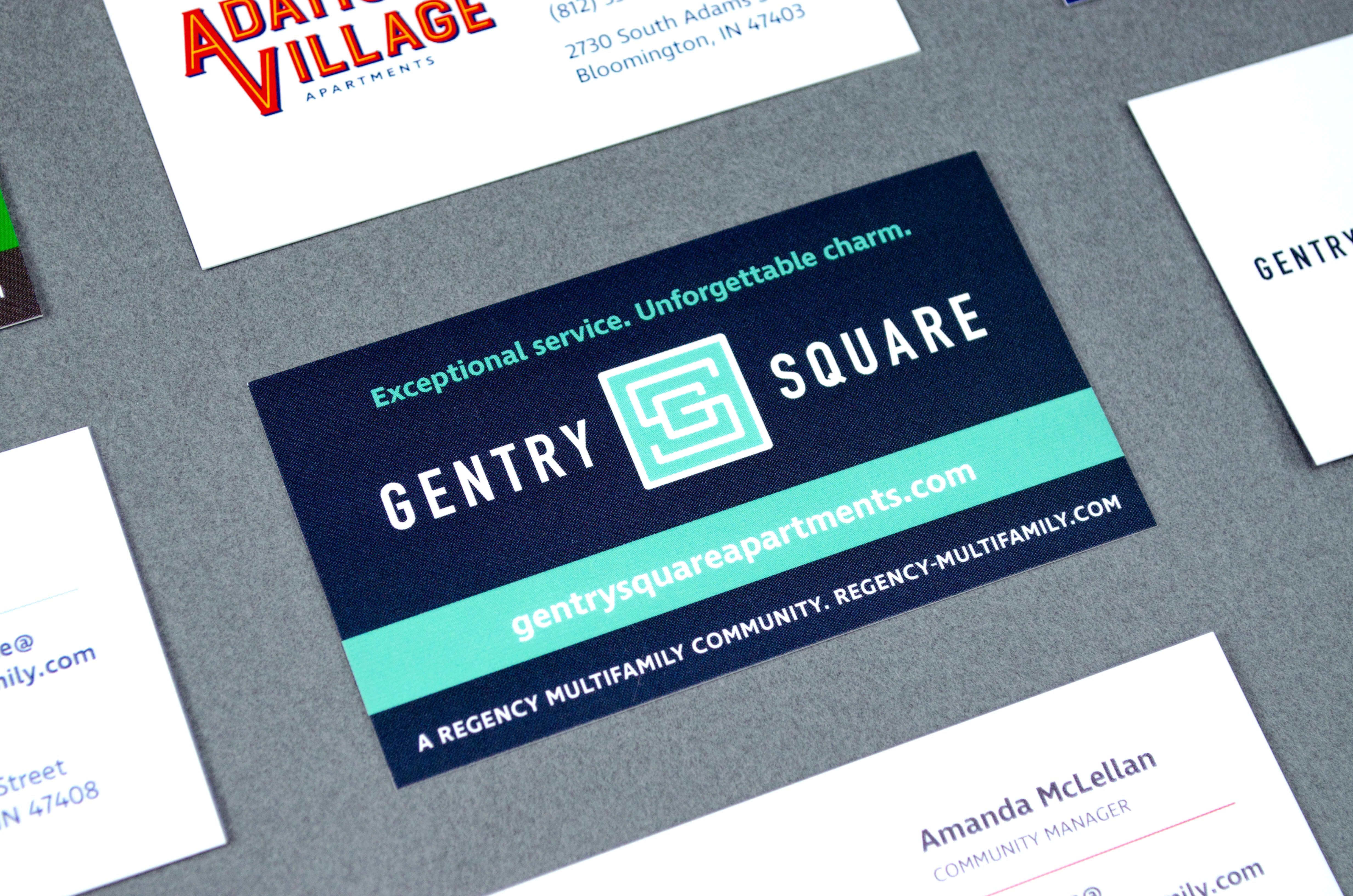 Regency - Gentry Square Apartments - Branding