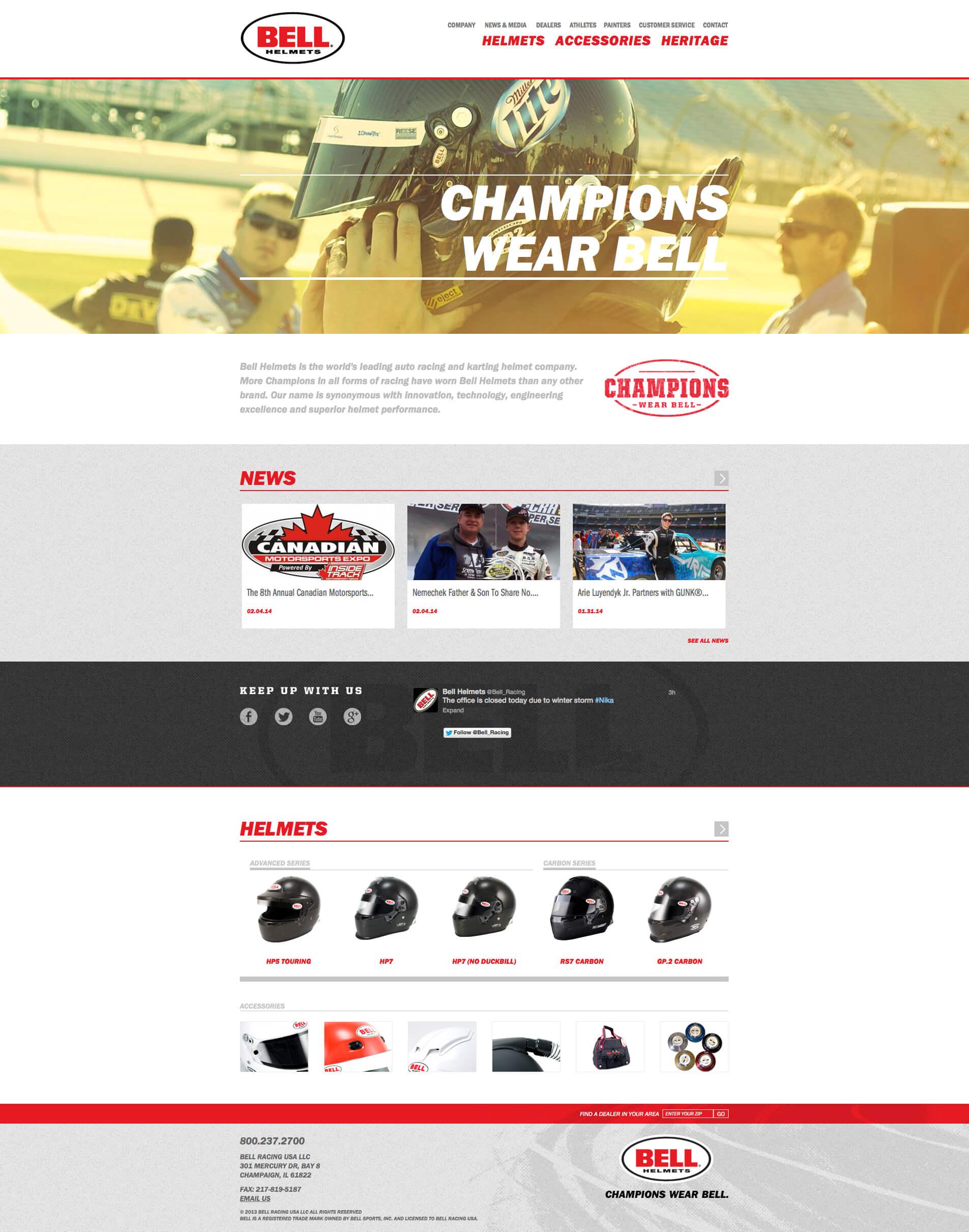 Bell Racing USA - Website & Online Store