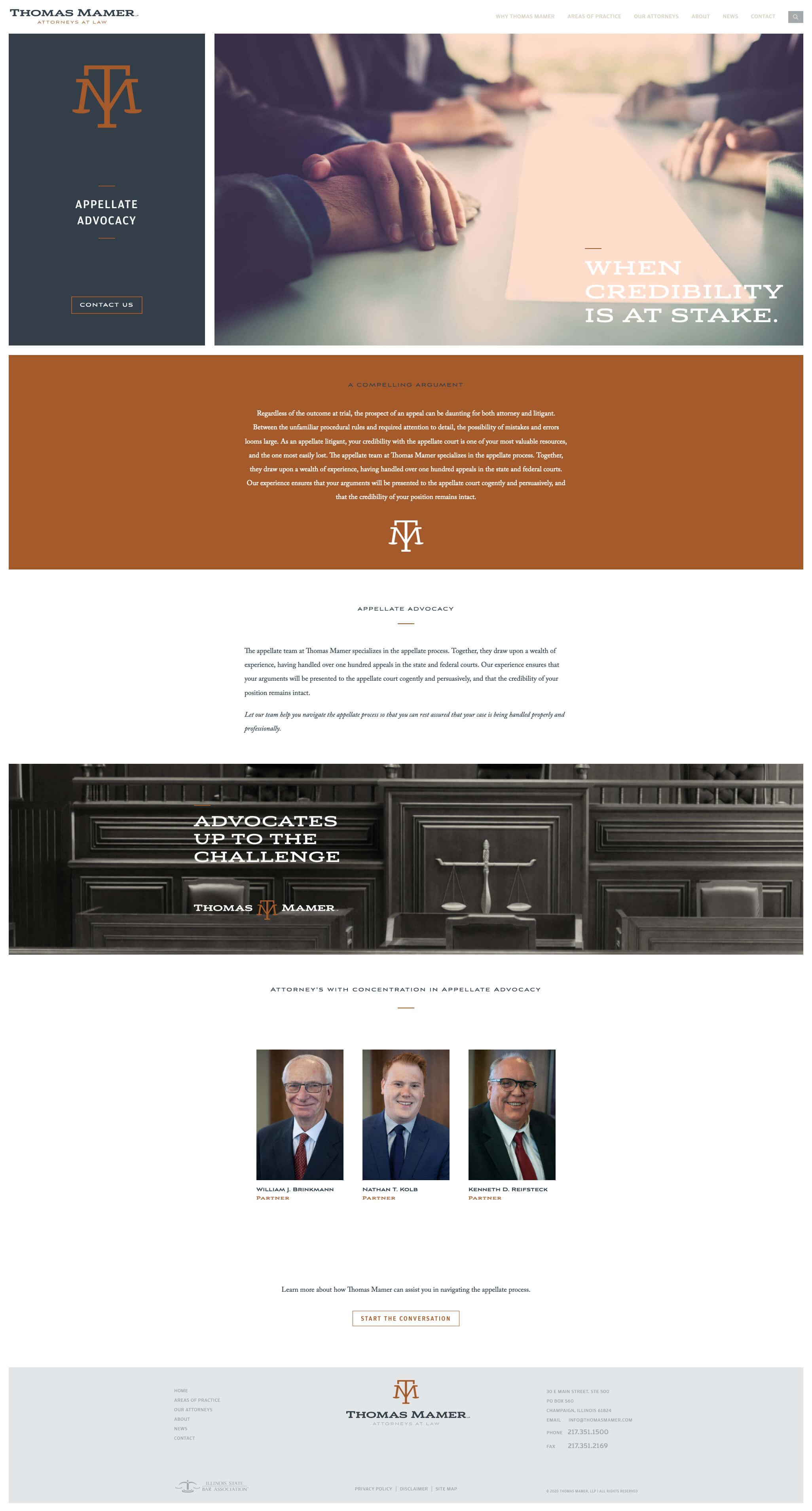 Thomas Mamer - Attorneys at Law - Website
