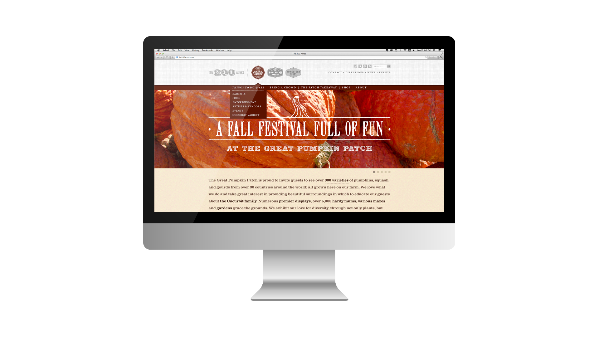 The Great Pumpkin Patch - Arthur, Illinois - Website