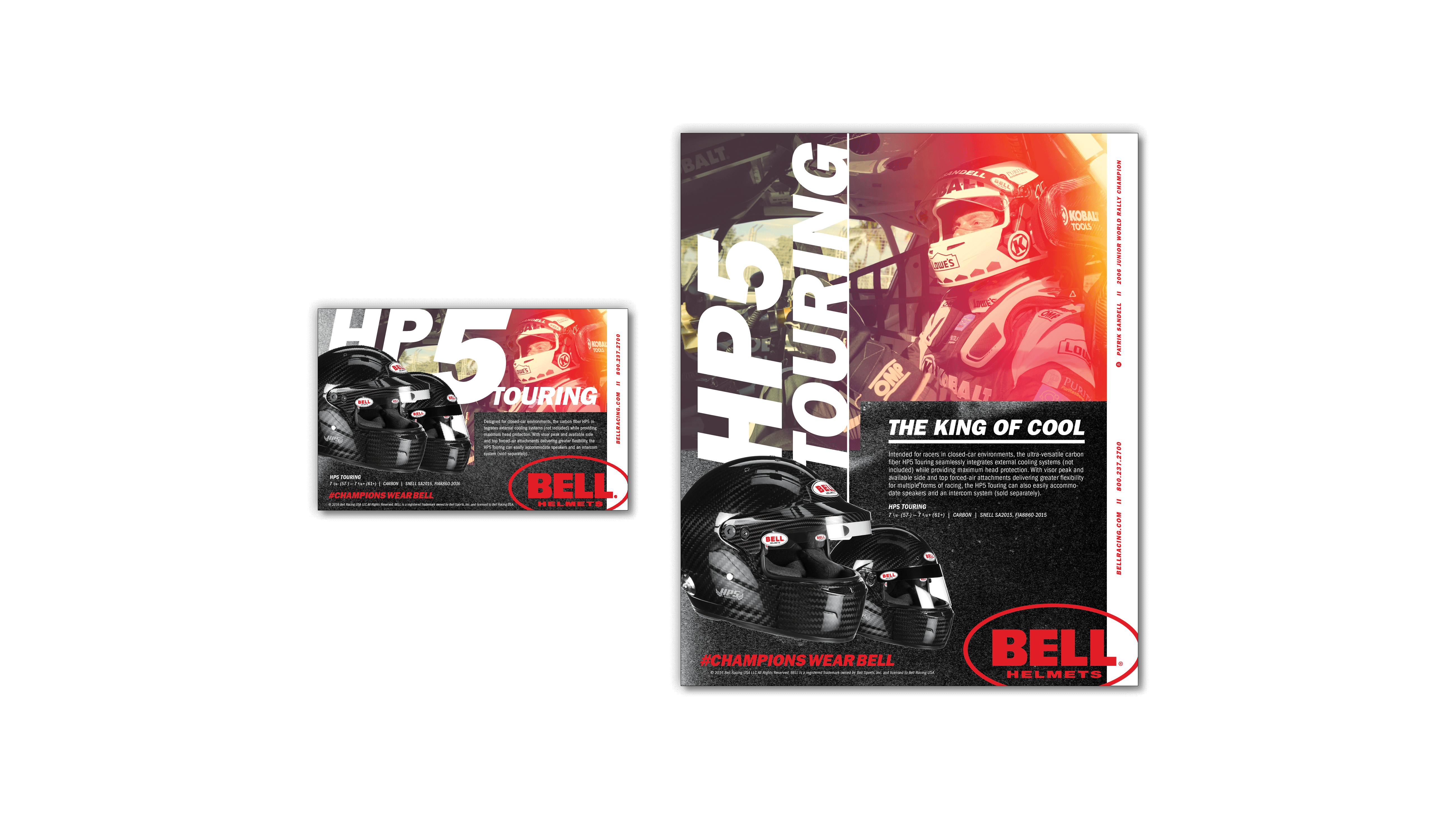 Bell Racing - Trade Publication Ads