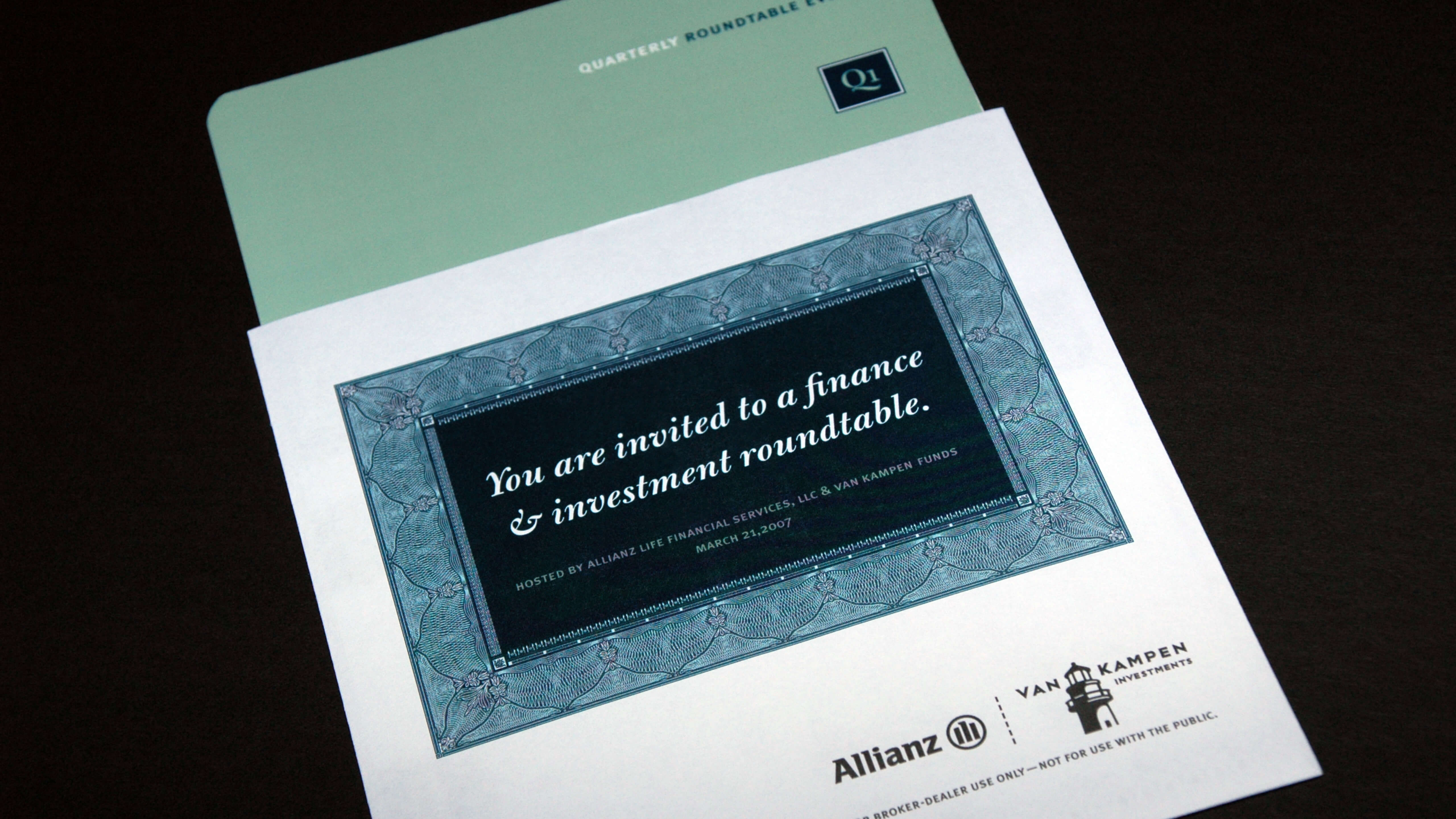Allianz | Quarterly Round Table Invitation