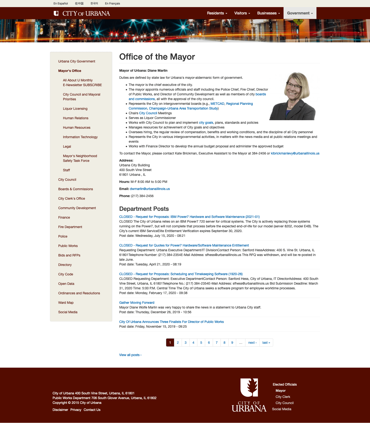 City of Urbana, Illinois - Website