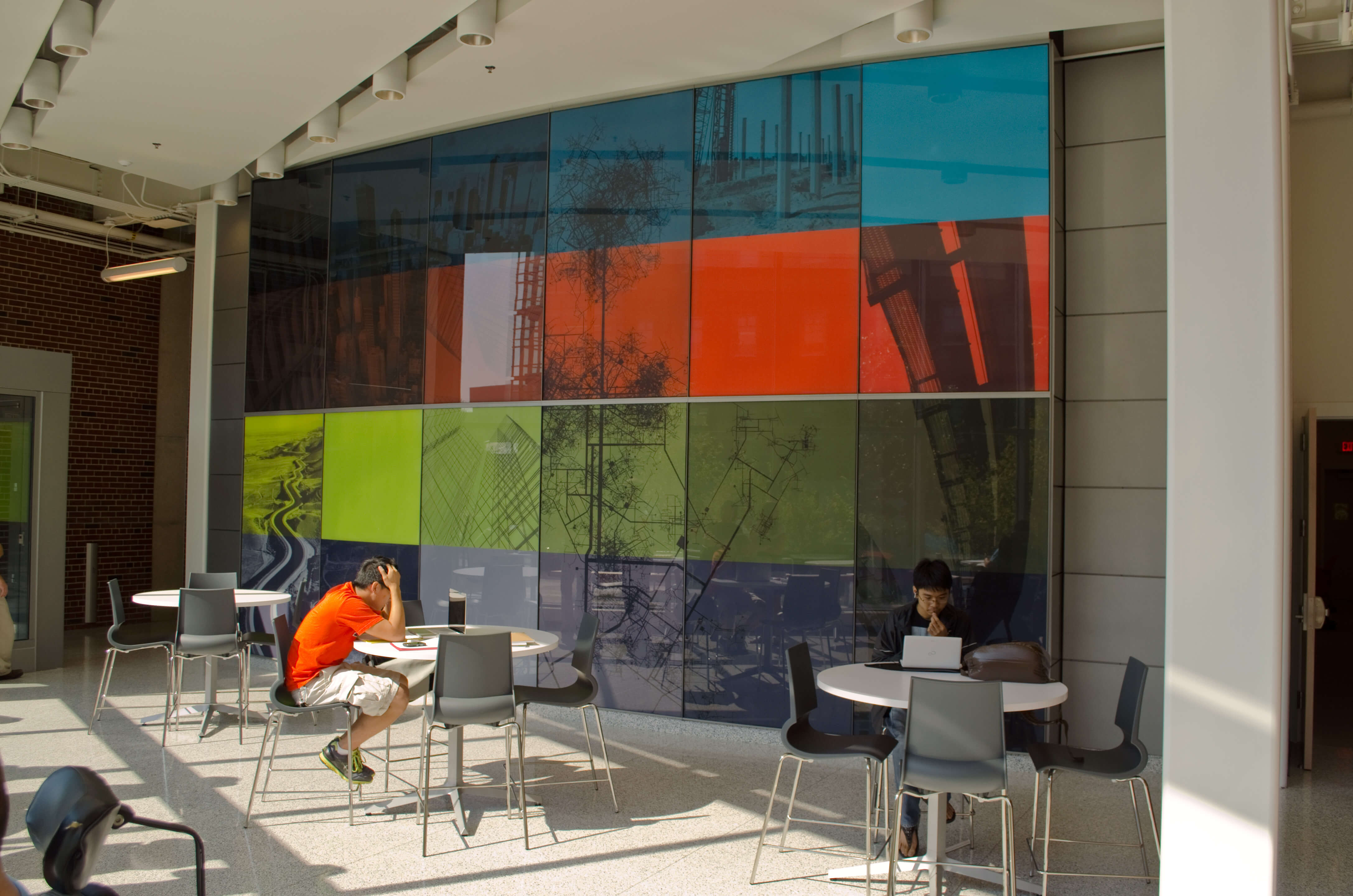 University of Illinois at Urbana-Champaign | College of Environmental and Civil Engineering | Yeh Center Glass Wall Feature
