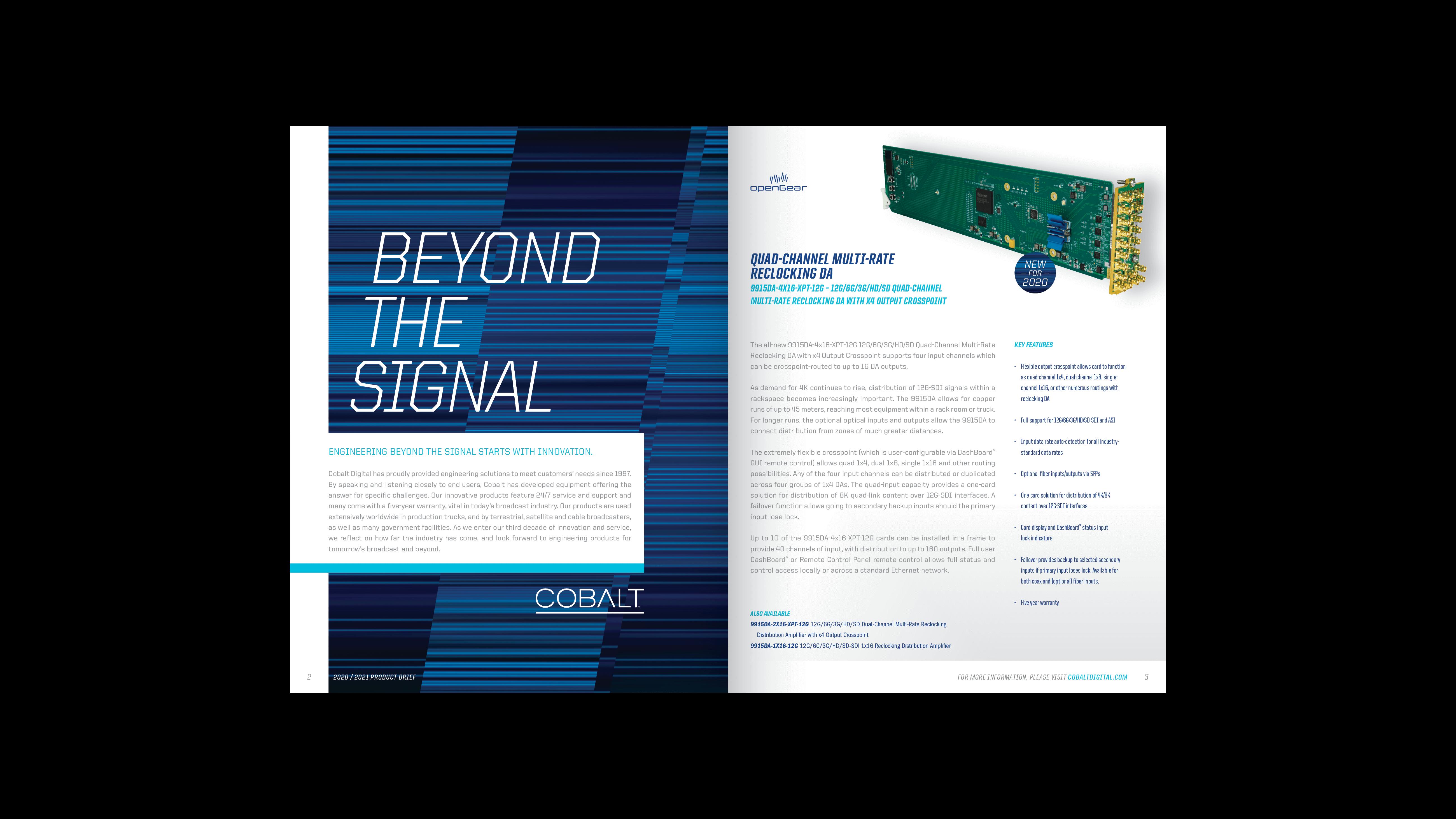 Cobalt Digital | 2020-2021 Product Brief
